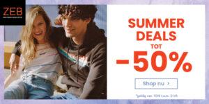 Summer deals tot 50%