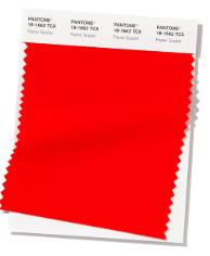 Trendkleuren lente/zomer 2020: Flame Scarlet